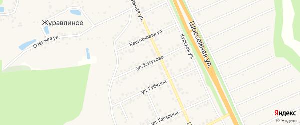 Улица Катукова на карте Строителя с номерами домов
