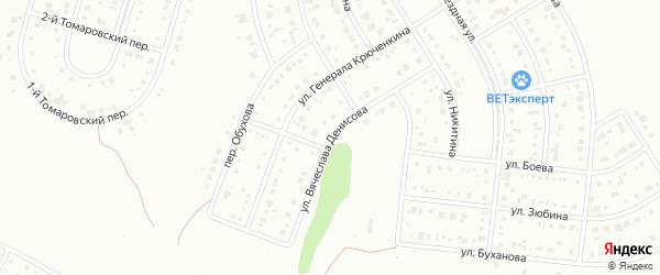 Улица Денисова на карте Белгорода с номерами домов