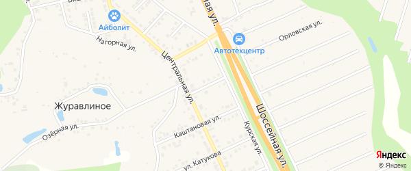 Журавлиная улица на карте Строителя с номерами домов