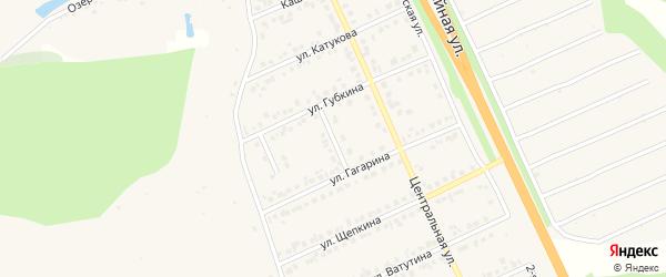 Терновый переулок на карте Строителя с номерами домов