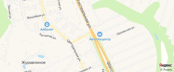 Курская улица на карте Строителя с номерами домов