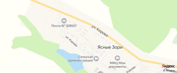 Огородная улица на карте поселка Ясные Зори с номерами домов