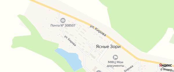 Земельная улица на карте поселка Ясные Зори с номерами домов