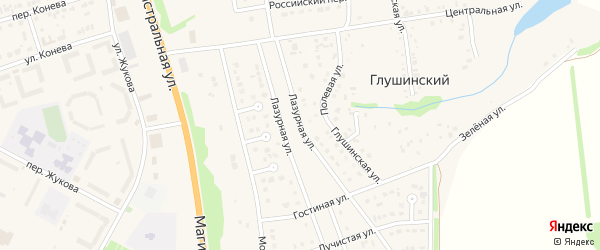 Лазурная улица на карте Строителя с номерами домов