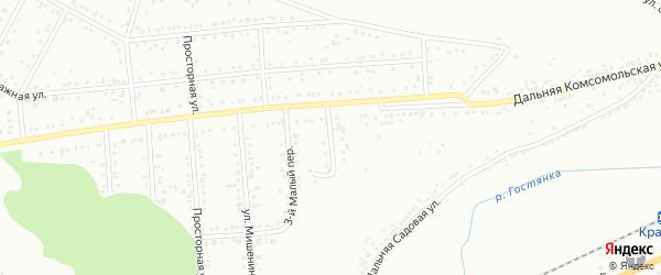 Малый 4-й переулок на карте Белгорода с номерами домов