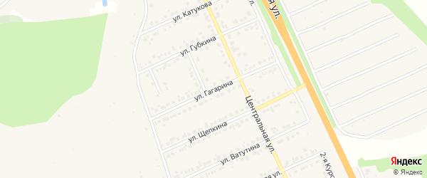 Улица Гагарина на карте Строителя с номерами домов