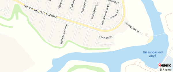 Отрадный переулок на карте Майского поселка с номерами домов