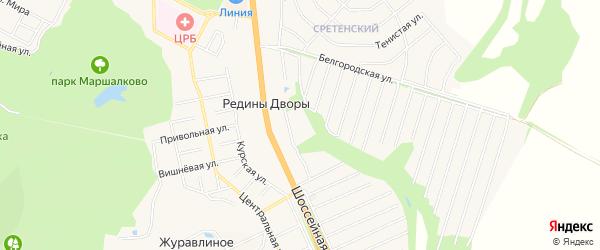 СТ Ивушка-1 на карте Строителя с номерами домов