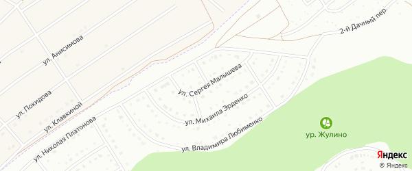 Улица Сергея Малышева на карте Белгорода с номерами домов