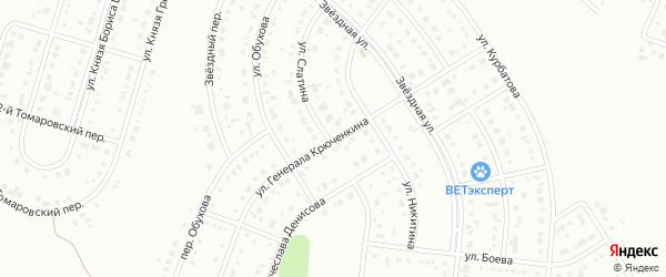 Улица Генерала Крюченкина на карте Белгорода с номерами домов