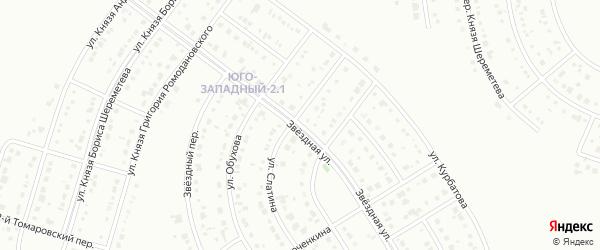 Звездная улица на карте Белгорода с номерами домов