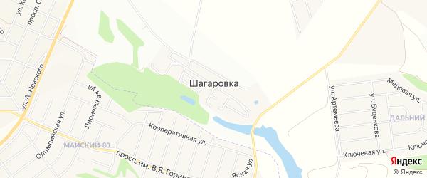 СТ Электрон на карте села Шагаровки с номерами домов