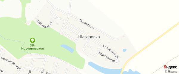 Солнечная улица на карте села Шагаровки с номерами домов