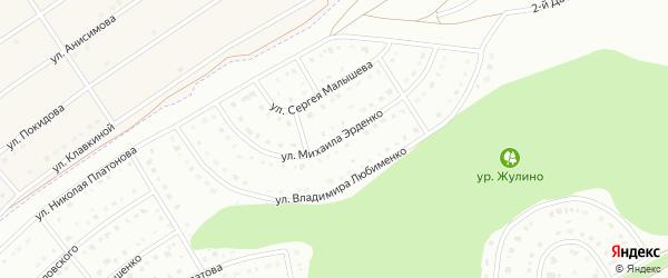 Улица Михаила Эрденко на карте Белгорода с номерами домов