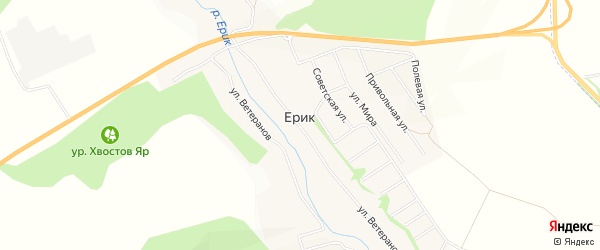 СТ Силикат на карте села Ерика с номерами домов