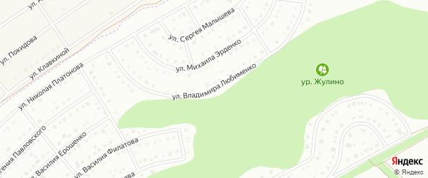 Улица Владимира Любименко на карте Белгорода с номерами домов
