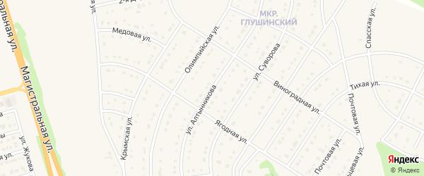Улица Алтынникова на карте Строителя с номерами домов