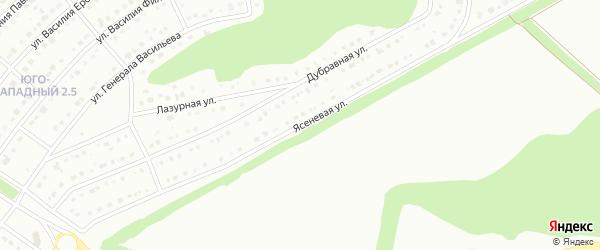 Ясеневая улица на карте Белгорода с номерами домов