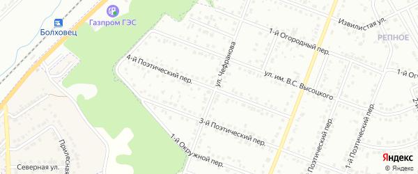 Поэтический 4-й переулок на карте Белгорода с номерами домов
