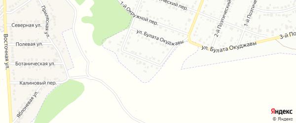 Окружной 2-й переулок на карте Белгорода с номерами домов
