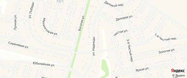 Улица Надежды на карте Стрелецкого села с номерами домов