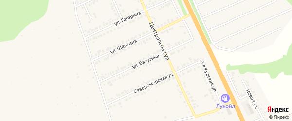 Улица Ватутина на карте Строителя с номерами домов