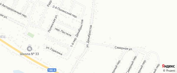 Улица Декабристов на карте Белгорода с номерами домов