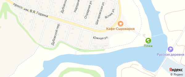 Шагаровский переулок на карте Майского поселка с номерами домов