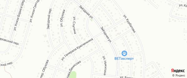 Улица Никитина на карте Белгорода с номерами домов