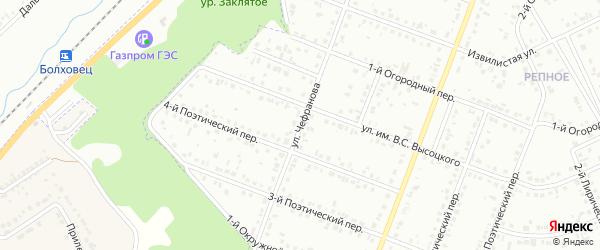 Улица им Чефранова Б.Н. на карте Белгорода с номерами домов