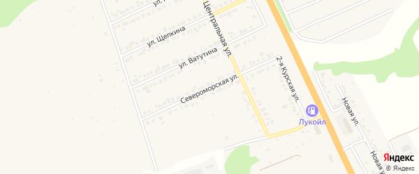 Североморская улица на карте Строителя с номерами домов