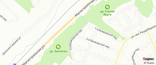 Воеводский 3-й переулок на карте Белгорода с номерами домов