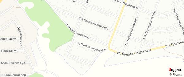 Окружной 1-й переулок на карте Белгорода с номерами домов