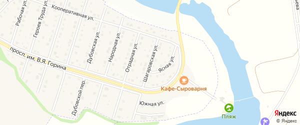 Шагаровская улица на карте Майского поселка с номерами домов
