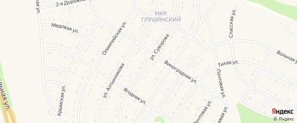 Улица Суворова на карте Строителя с номерами домов