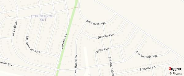 Деловая улица на карте Стрелецкого села с номерами домов