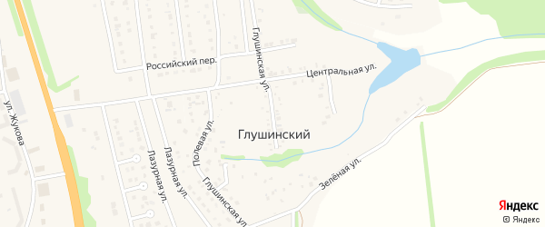 Глушинская улица на карте Глушинского хутора с номерами домов