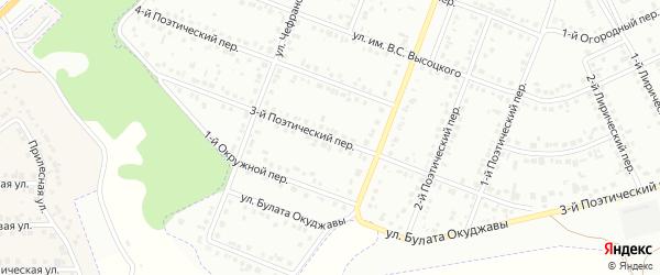 Поэтический 3-й переулок на карте Белгорода с номерами домов
