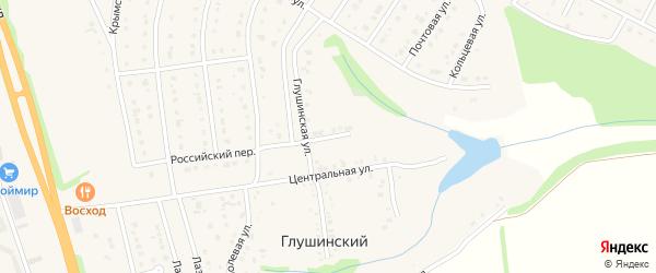 Зеленая улица на карте Глушинского хутора с номерами домов