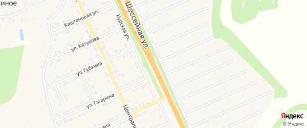 Шоссейная улица на карте Строителя с номерами домов