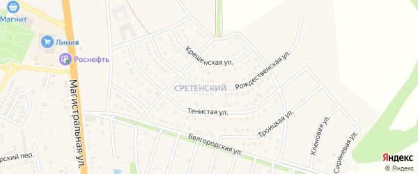 Рождественская улица на карте Строителя с номерами домов