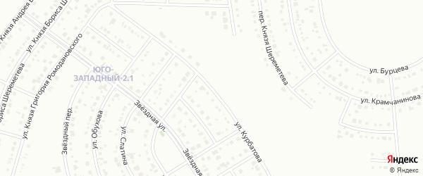 Улица Курбатова на карте Белгорода с номерами домов