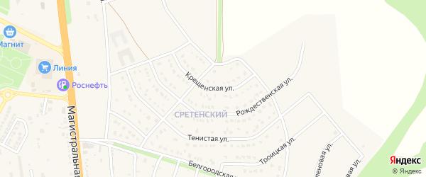 Крещенская улица на карте Строителя с номерами домов