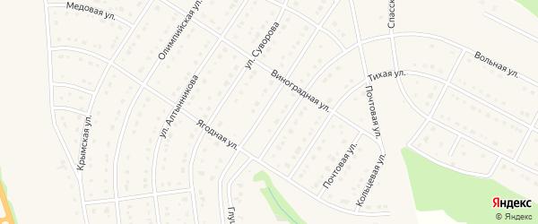 Российская улица на карте Строителя с номерами домов