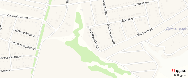 Яркий 4-й переулок на карте Стрелецкого села с номерами домов