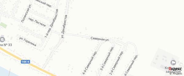 Северная улица на карте Белгорода с номерами домов