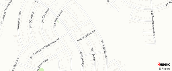 Переулок Курбатова на карте Белгорода с номерами домов