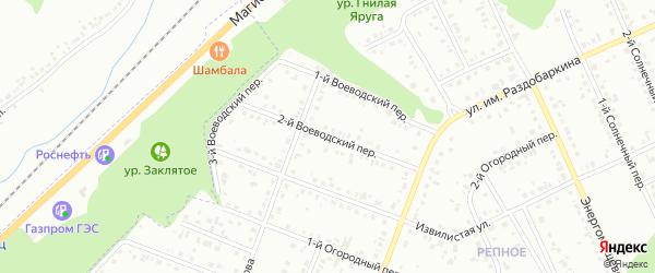 Воеводский 2-й переулок на карте Белгорода с номерами домов