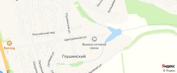Вишневая улица на карте Глушинского хутора с номерами домов