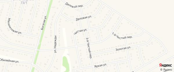 Чистый 3-й переулок на карте Стрелецкого села с номерами домов